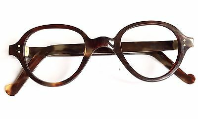 Antique Faux Tortoise Spectacles Vintage Eyeglasses Made In England