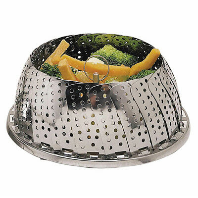 Kitchen Craft Stainless Steel Collapsible Steaming Basket 28cm