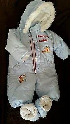 Fab baby boy quilted snow suit by Disney baby up to 6 months.Excellent condition