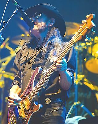 Genuine Personally Hand Signed 10x8 Photograph of Lemmy (COA Incl)
