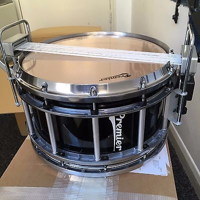 "Premier 14"" x 7"" Revolution Series Indoor Marching Snare Drum, Black Lacquer"