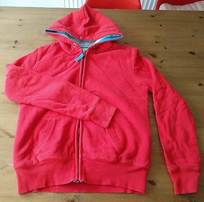 BODEN JOHNNIE B Red Borg Lined Zip-Through Hoodie 13-14 Years Fleece Lined