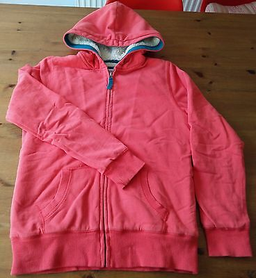 BODEN JOHNNIE B Coral Borg Lined Zip-Through Hoody 13-14 Years Fleece Lined