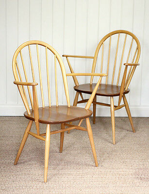Vintage Retro Blonde Ercol Windsor Elm Carver Chair (More available)