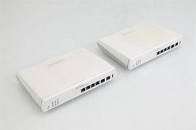 Job Lot x 2 Draytek Vigor2820n ADSL2 Wired Router With Security Firewall Annex A