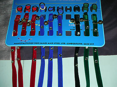 Special Offer 1 Pretty Velvet Crystal Cat Collar Slide Buckle Choice Of Colours