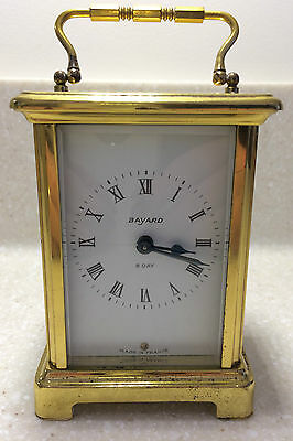 French Bayard, Duverdry &  Bloquel 9 Jewels, 8 Day Quality Carriage Clock Brass • £39.99