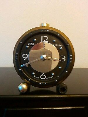 Russian Braille clock made by vega with 11 jewels made in ussr in working order.