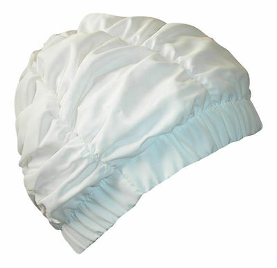 NEW Ladies white Shower Cap Fashy Traditional Style