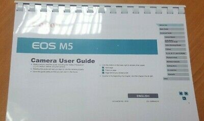Canon Eos M5 Full User Manual Guide Instructions Printed 222 Pages (A5)