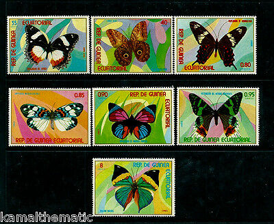 Equatorial Guinea MNH 7v, Butterflies, Insects  - B06