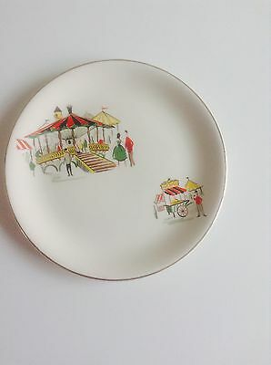 Alfred Meakin 'Carousel/Fairground' 17 cms Tea Plate c.1950's