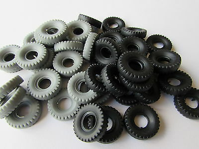 48 New Dinky 20Mm Black/grey Block Replacement Tyres-Special Offer  H