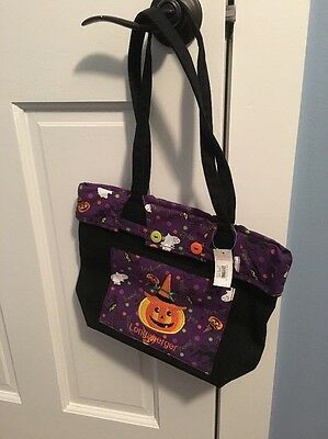 Longaberger Halloween Tote Pocket On Front With Pumpkin