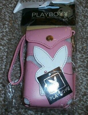Playboy Leather Mobile Phone / Purse Pouch - Pink - Official - New