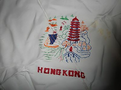 """vintage scarf linen tapestry hong kong 25""""x24"""""""