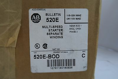 Allen-Bradley Bulletin 520E Multi-Speed Starter Separate Winding, NEW!