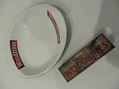 Wills Woodbine Dominoes And Ashtray Advertising Gameing Pub Bar Table Vintage