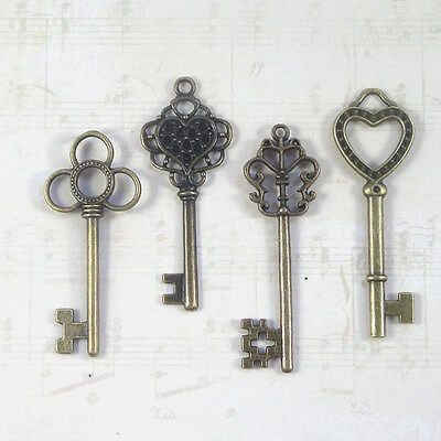 New old look keys 16  parties jewelry crafts steampunk weddings necklace heart