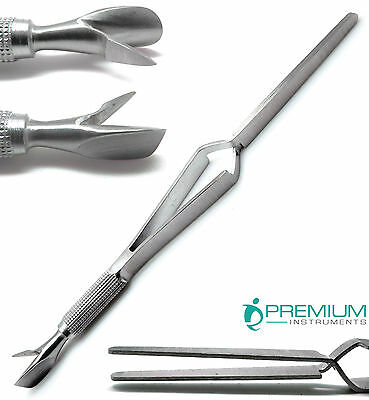 Nail Pinching Wand Cuticle Pusher C-Curve Multifuncation Stainless Steel Tools