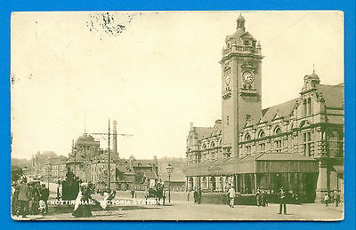 Nottingham.victoria Station.tucks Town And City Postcard Posted 1905