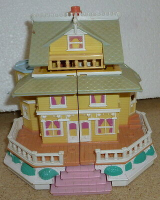 Vintage polly pocket club house pop up party play set 1995