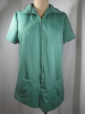 Vintage 1960-1970's Girl Scouts Zip Through Smock Blouse Size 14 (runs small)