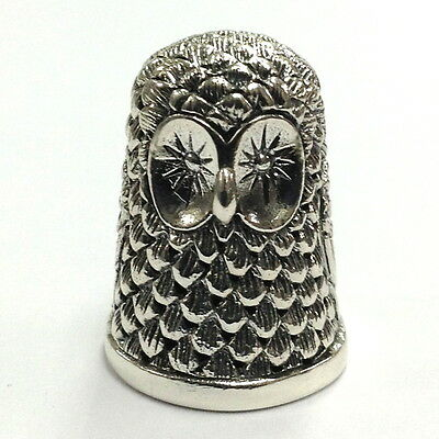 Collectable Owl Thimble 925 Sterling Silver With