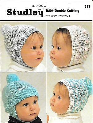 Vintage Patons 9831 Baby Child Loopy Hats Bonnets Knitting