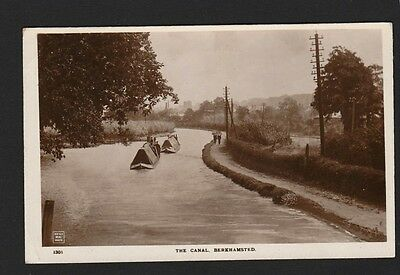 Hertfordshire -  Canal Boats on The Canal Berkhamsted Real Photo