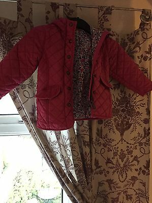 Girls Joules Pink Coat