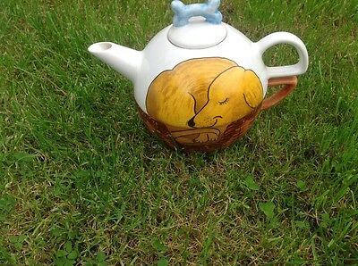 lovely handpainted teapot with cup