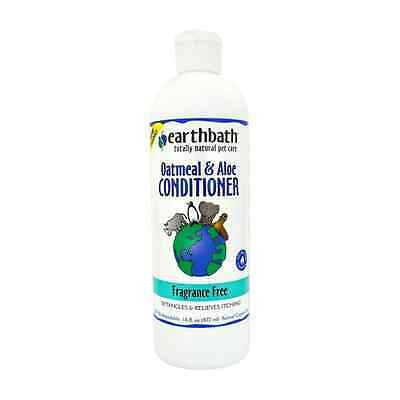Earthbath Fragrance Free Dog Conditioner, 472 ml, Oatmeal and Aloe