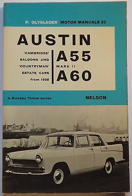 P Olyslager Motor Manual for Austin A55 Mk2 and A60