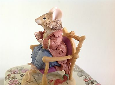 Border Fine Arts ~ Brambly Hedge Bh22 ~ Lord Woodmouse In A Chair ~ Gold Label