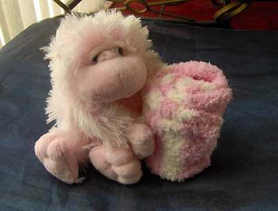 Gift For A Girl - Soft Toy And Socks - All Sizes - 0-2.5 3-5.5 6-8.5 9-12 12.5-3