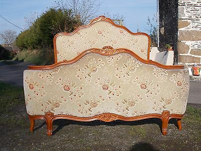 Vintage French Double Bed Demi Corbeille Versailles Revival Amazing Looking