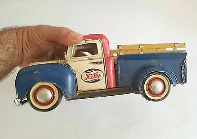 """Old? Tin Toy  Pepsi Cola Delivery Truck, Car - 10.6"""" , 27cm Legnth"""