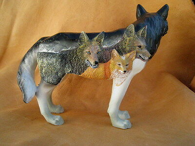BLOOD BROTHERS PAINTED WOLF FIGURINE - Call of the Wolf Collection NIB