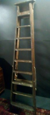 Antique Victorian Mahogany Library Ladder