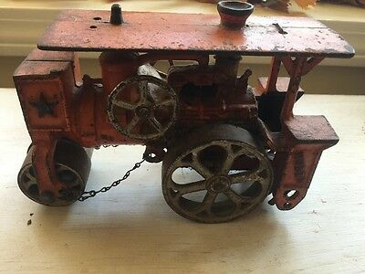 Great Vintage Huntley Huber Cast Iron Steam Roller