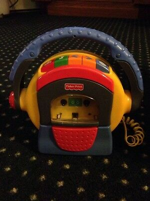 vtg Fisher Price Tuff Stuff Cassette Tape Player with Microphone 1999 Mattel