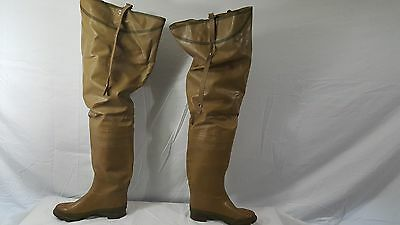 Vintage Rubber Hip Wader Boots By Steel Shank Fishing Hunting Mens Size 7