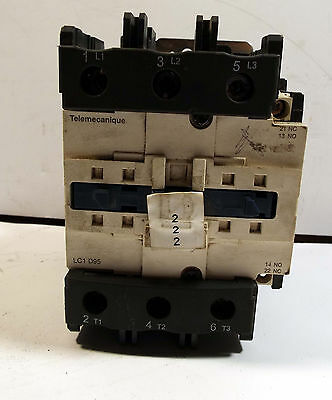 1 Used Schneider Electric Lc1 D95 C Contactor 125A, 3P