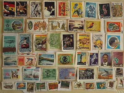 Collection of stamps from GHANA : 52 stamps all different