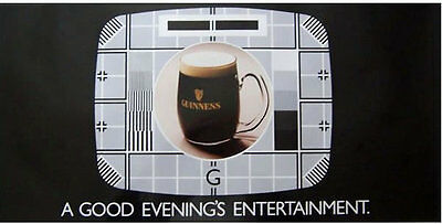 Guinness Poster - 'Television', c1980s
