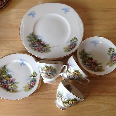 Royal Vale ~ Bone China ~ English Cottage Garden ~ Part Tea Set