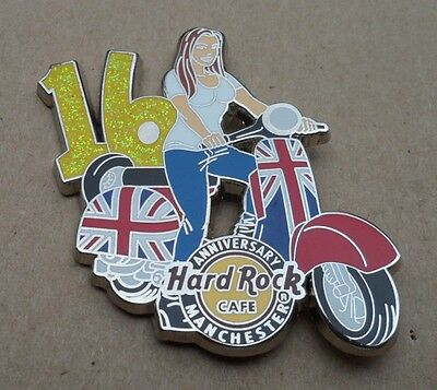 Pin Hard Rock Cafe Manchester England 16.Jahrestag Limited Edition 200