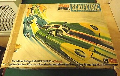 SCALEXTRIC YS400 vintage you steer conversion set with 2 cars