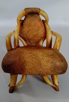 Raines Take A Seat Longhorn Miniature Dollhouse Chair 1:12 Resin Living Texas